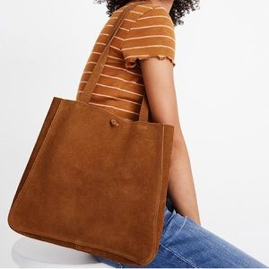 Madewell luxe suede tie tote
